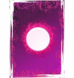 floral pink frame vector image