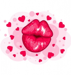 Love kiss design vector