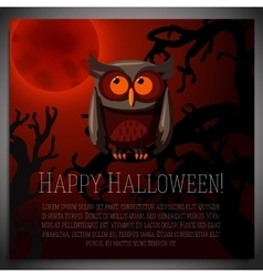 Big halloween banner with of brown vector