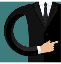 Business man in black vector