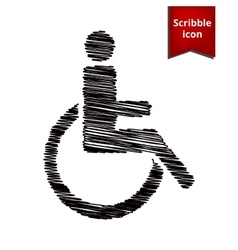 Disabled icon with chalk effect vector