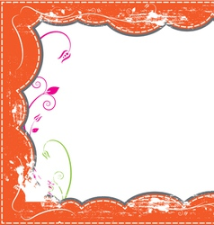 grunge frame design vector image