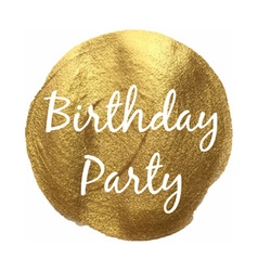 Golden birthday party banner vector
