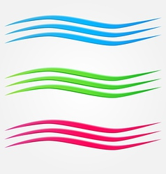 Abstract colorful business wave line set vector
