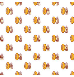 Bread wheat pattern seamless vector