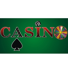 casino sign green fort vector image vector image