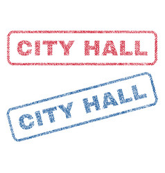 City hall textile stamps vector