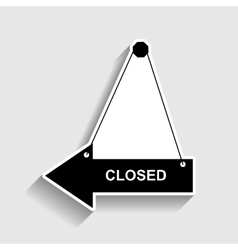 Closed sign sticker style icon vector