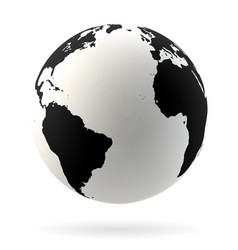 earth globe symbol vector image