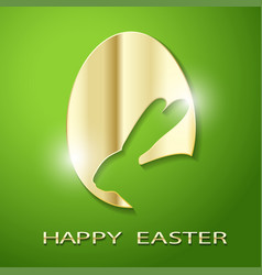 Easter golden egg rabbit vector