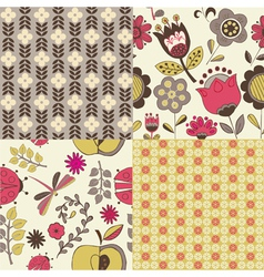 floral repeat pattern vector image