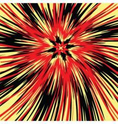 flower burst vector image vector image