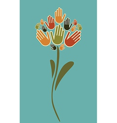 Flower hands vector image