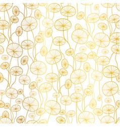 golden white underwater seaweed plant vector image