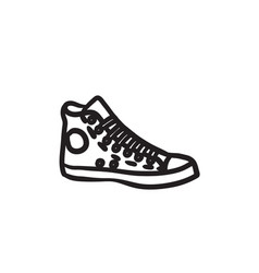 Gumshoes sketch icon vector