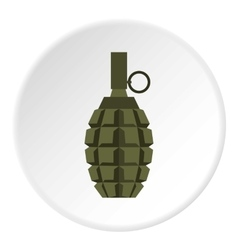 Hand grenade icon flat style vector image