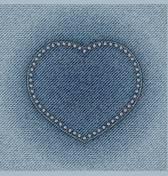 Jeans heart vector