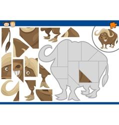 Kindergarten jigsaw puzzle game vector