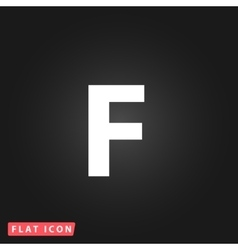 Letter F flat icon vector image vector image