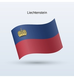 Liechtenstein flag waving form vector image vector image