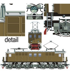 locomotive vl vector image
