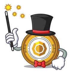 Magician komodo coin mascot cartoon vector