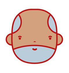 Nice businessman face to kawaii avatar vector