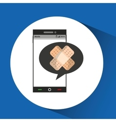 Phone online health aid band vector