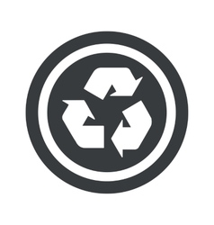 Round black recycle sign vector image