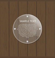 Round glass plate with space for text vector