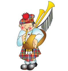 scottish musician vector image