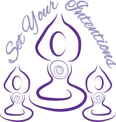 Set your intentions yoga vector