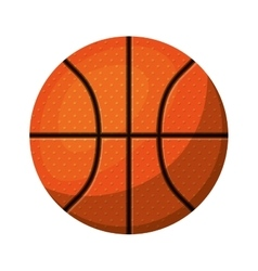 silhouette color with basketball ball to front vector image vector image