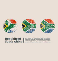South africa flag design concept vector