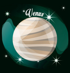 Venus planet in the solar system creation vector