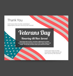 Veterans day banner vector