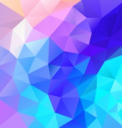 vibrant blue multi colored polygon triangular vector image vector image