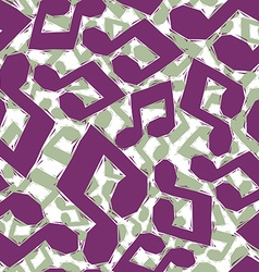 Violet musical notes seamless pattern geometric vector image vector image