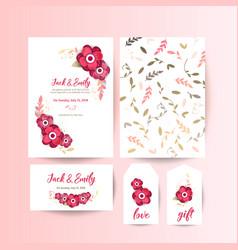 Wedding collection spring ornament concept vector