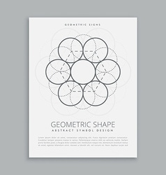 Sacred geometry circles vector