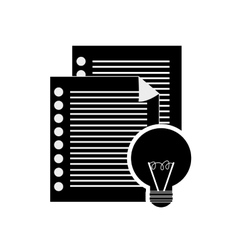 Notepad and documents icon vector