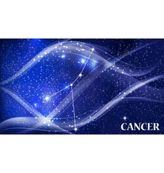 Symbol cancer zodiac sign vector