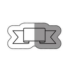 contour symbol ribbon icon vector image
