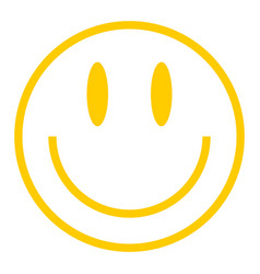 Yellow smiley icon smiling face vector