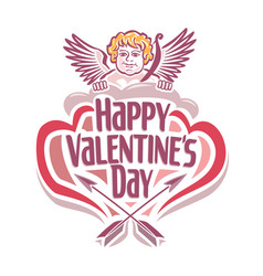valentines day with cupidon vector image
