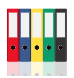 Closed office binders set isolated on white vector