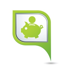 Copypig icon green map pointer vector