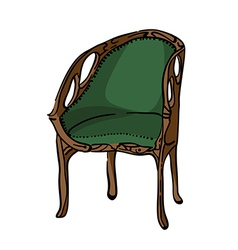 1900 style decorated armchair vector image