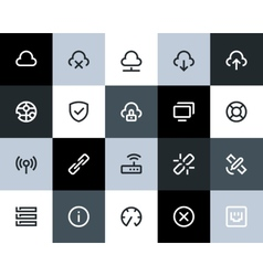 Wireless network icons flat vector
