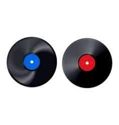 Retro vinyl record vector
